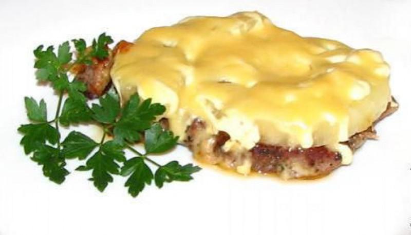 рецепт говядина под сыром #9