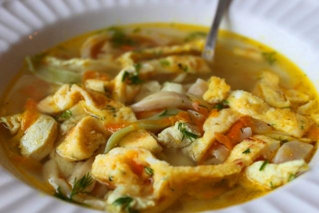 Необычный куриный суп рецепт