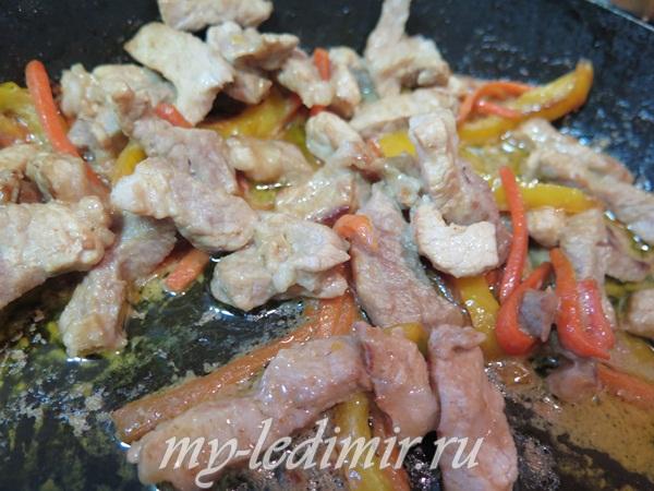 Свинина по китайски с овощами