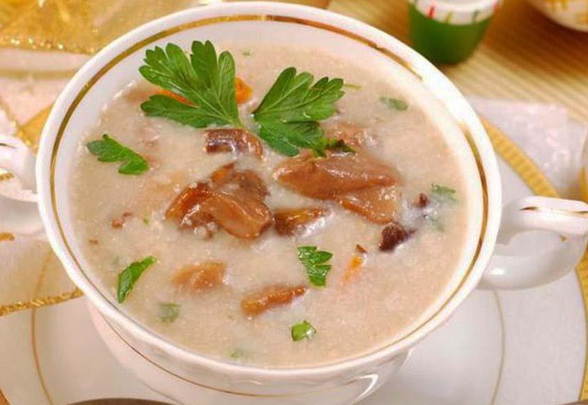 Постный суп с шампиньонами