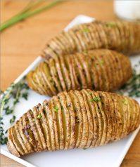 Печеный картофель в духовке— Аккордеон