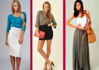 С чем носить длинную или короткую классическую юбку