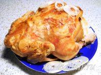 Курица с рисом и кунжутом запеченная в рукаве