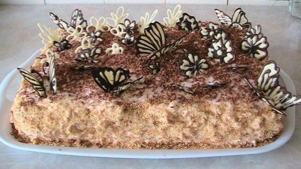 Тирамису круглый торт украшения красивые