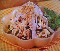 Вкусный салат с отварным языком— Воспоминание о Греции