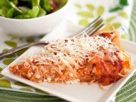 Творожная пицца из спагетти— нестандартно но очень вкусно
