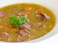 Вкусный гороховый суп для выходного дня