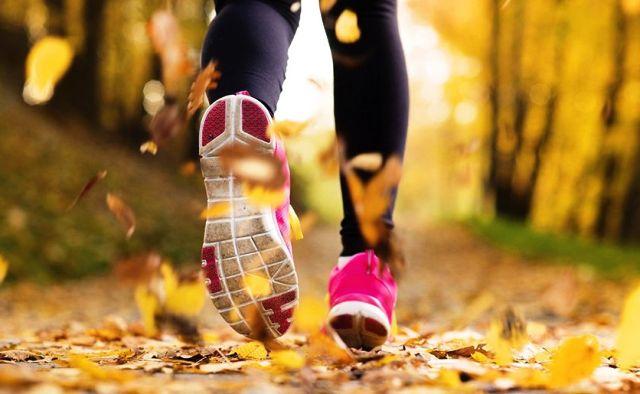 пробежка осенью