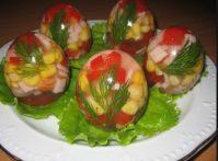 Заливные яйца — отличная закуска для Праздничного стола