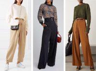 Шерстяные широкие брюки – хит осени 2021 года