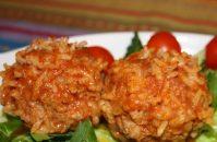 Легкое и ароматное мясное блюдо «Ежики» — пробуем