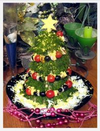 Салат Елка — чудесное блюдо на Новый Год