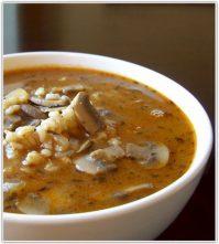 Суп грибной с перловкой — рецепт от бабушки