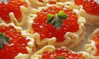 Рецепты с красной икрой для праздничного стола