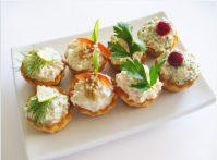 Маленькие тарталетки с сыром